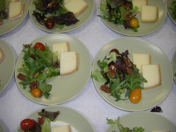 assiette de fromage de brebis
